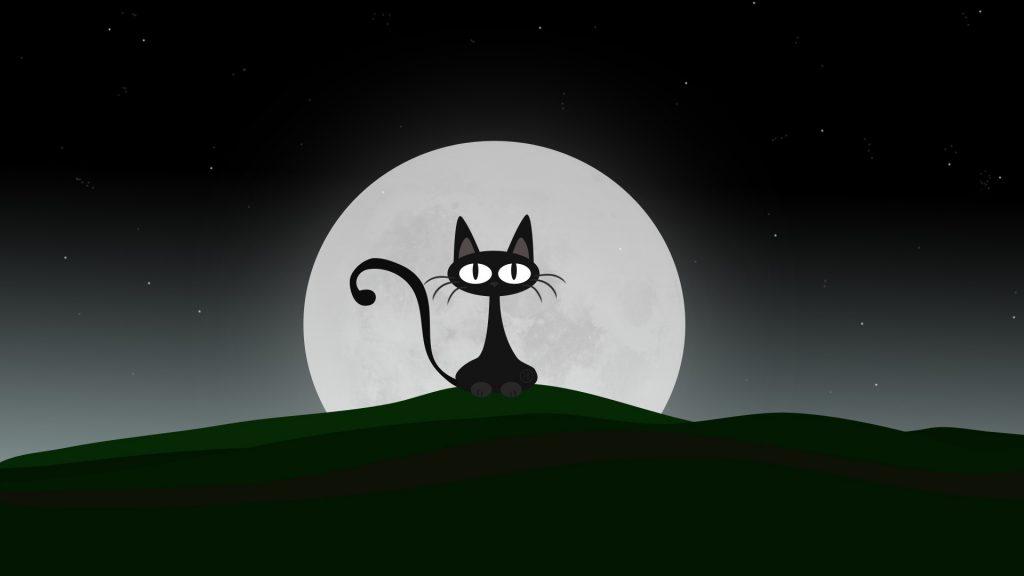 Заставки на телефон черная кошка
